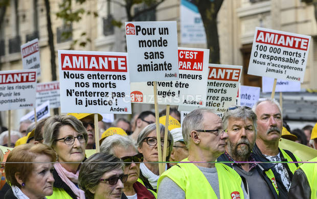 Paris : Manifestation nationale des victimes de l'amiante