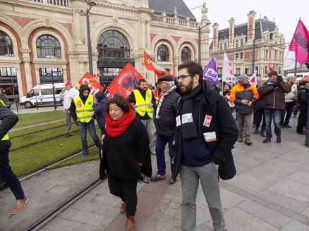 Manifestation du 16 novembre à Valenciennes contre les ordonnances Macron