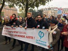 Manifestation du 16 novembre à Lille aux côtés d'Adrien Quatennens, député du Nord