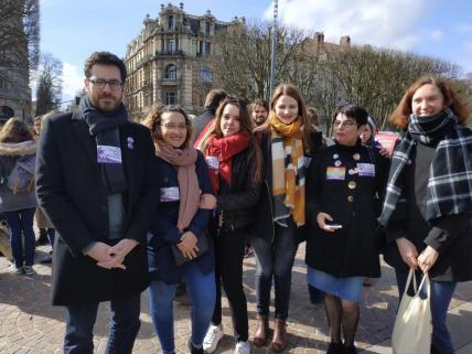 réunion publique pour les européennes à Lille