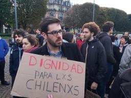 Manifestation de soutien au peuple Chilien