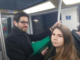 En route pour le débat de Sciences Po avec Elodie Cloez